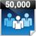 50,000 User