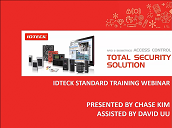 IDTECK Webinar Technical Training [Apr. 26-27] [Installation & Initial Setting]