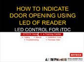 LED Control for iTDC