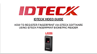 [IDTECK] How To Register Fingerprint using Biometric Reader, LX006